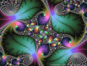 Fractal Art with jewel colors