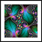 Floral Fractal Art with jewel colors Framed Print