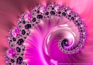 Girly pink fractal spiral