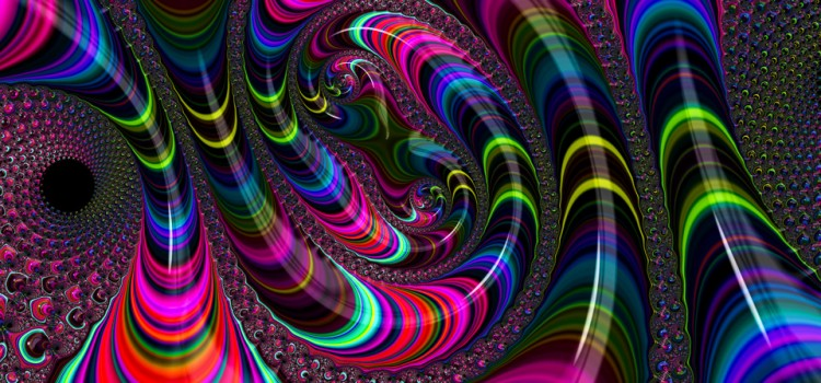 Wild and crazy colorful Fractal