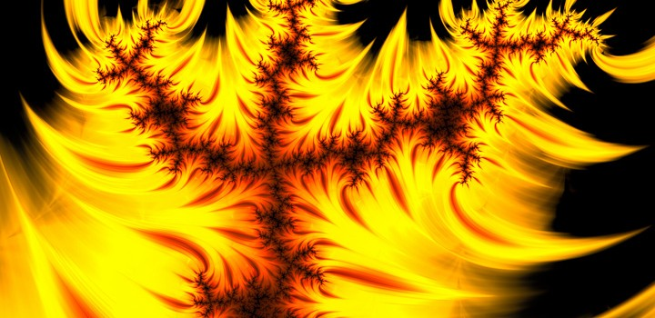 Orange flame burning - Fractal Art