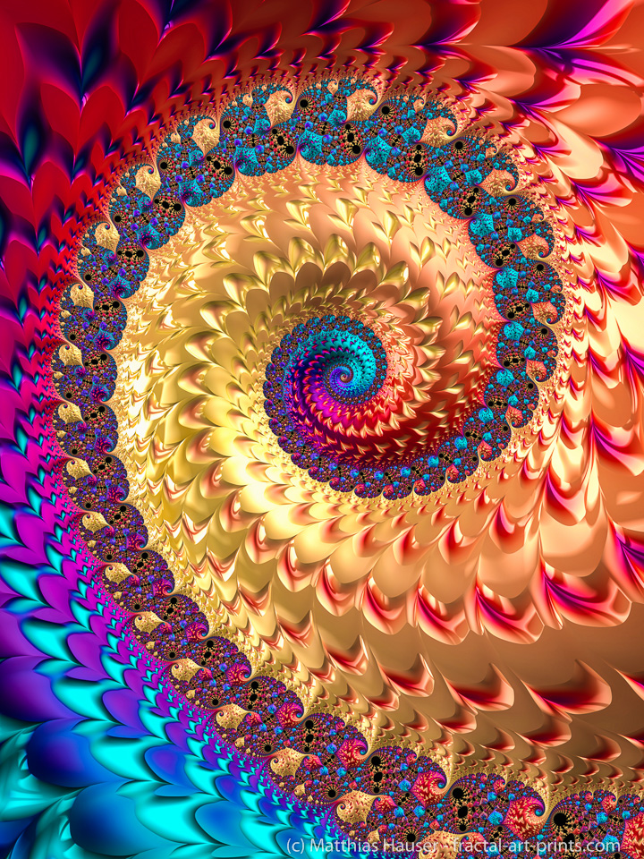 Colorful fractal spiral