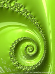 Greenery Fractal Spiral