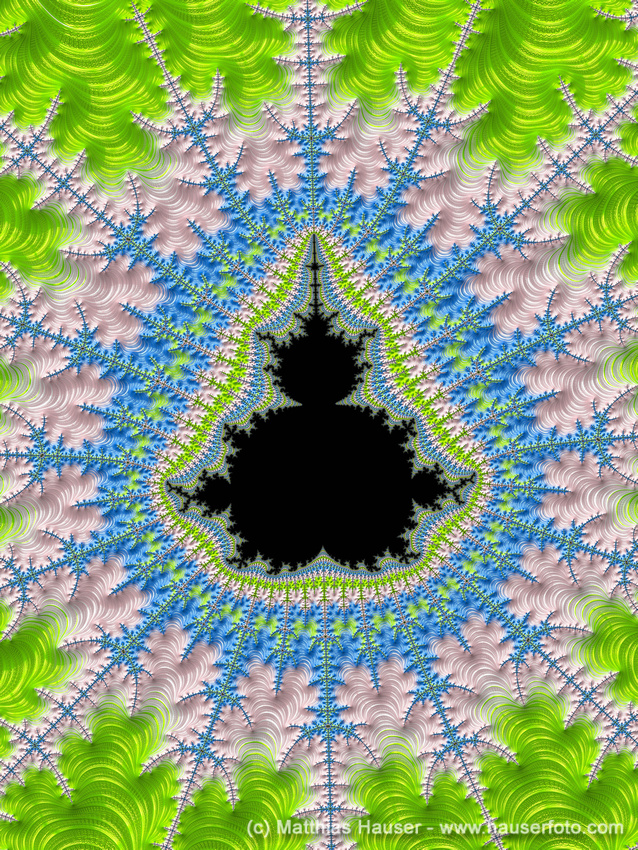 Fractal Art Greenery Rose Quartz Serenity