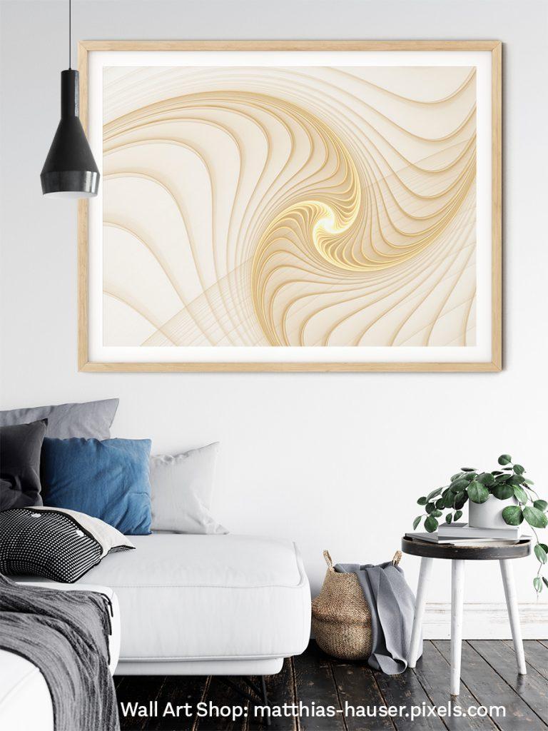 Golden Spiral Fractal Art for modern Home Decor
