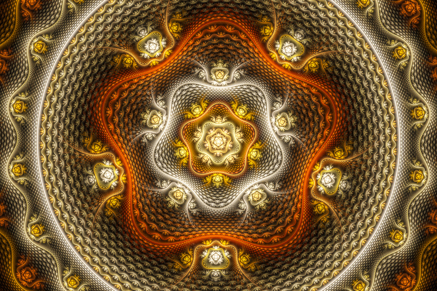 Fractal Art with snakeskin texture
