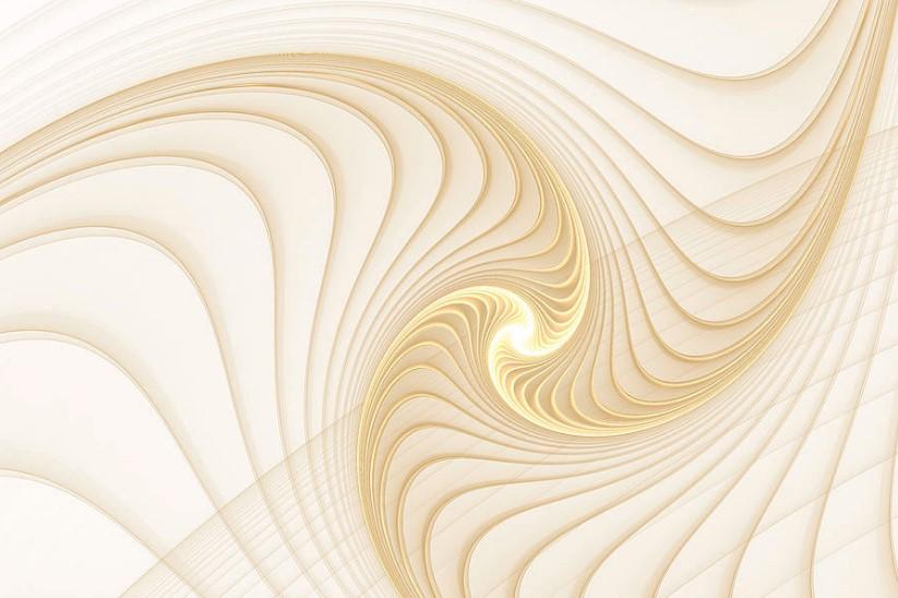 Golden and White Fractal Spiral