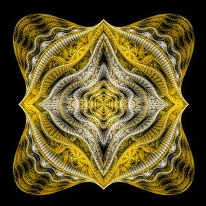 Abstract Golden Fractal Art