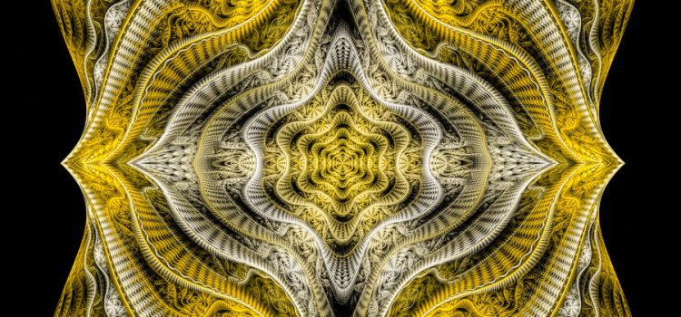Abstract Golden Fractal Art