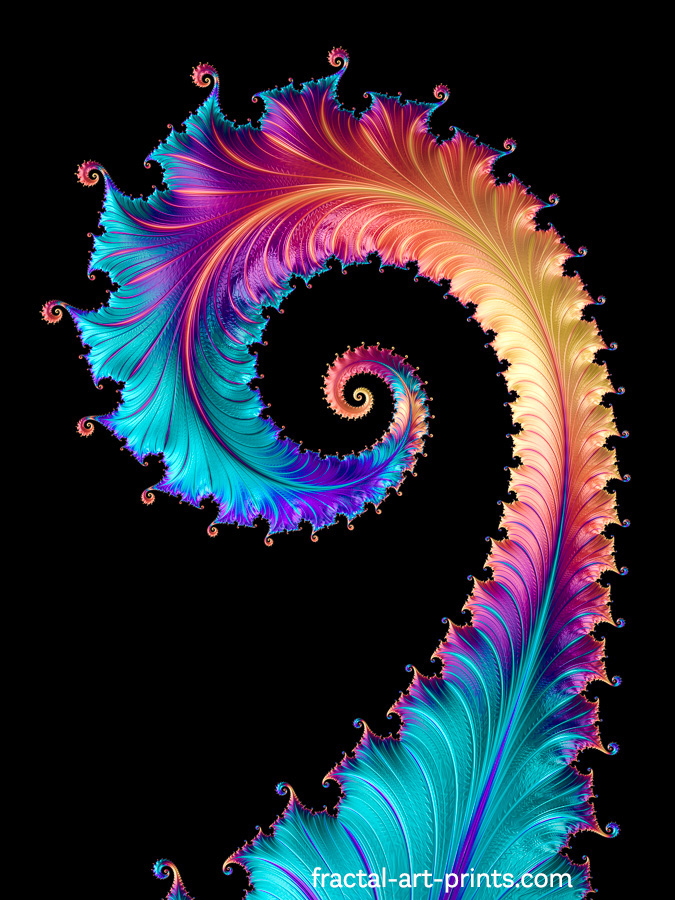 Fractal Dragon Tail with rainbow colors